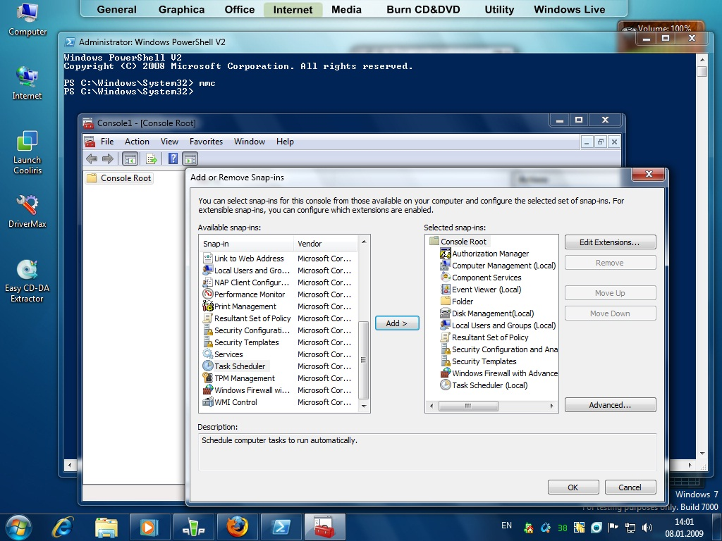 secondary disk scheduling management windows 7